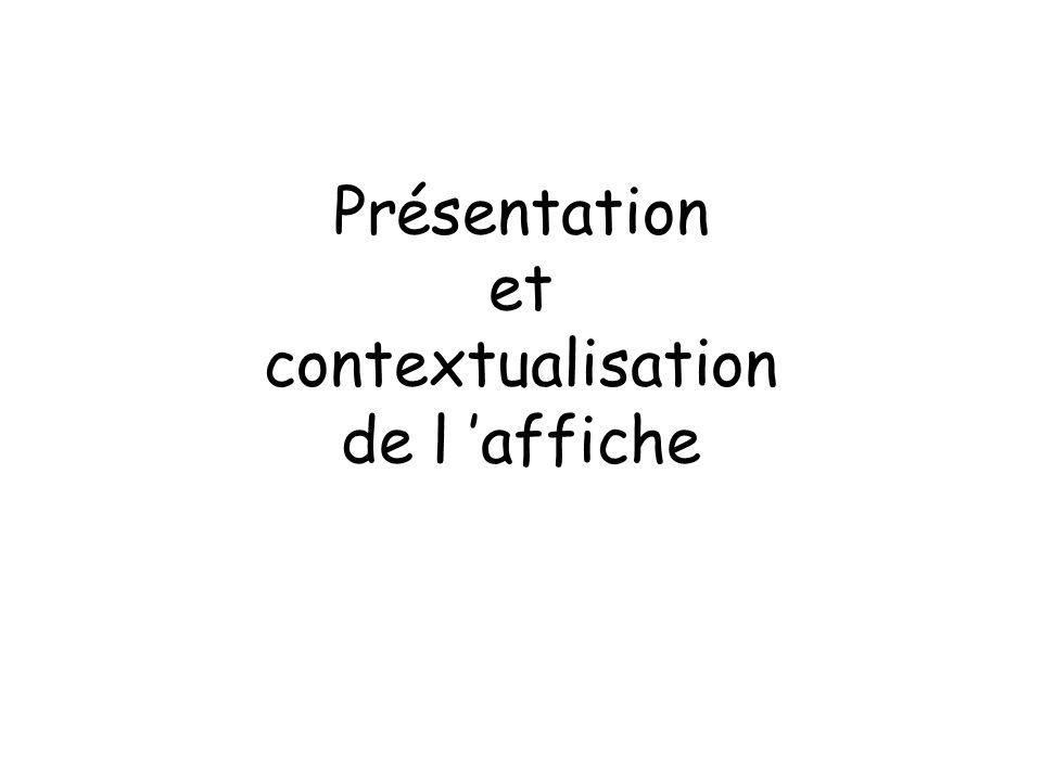 Présentation et contextualisation de l affiche