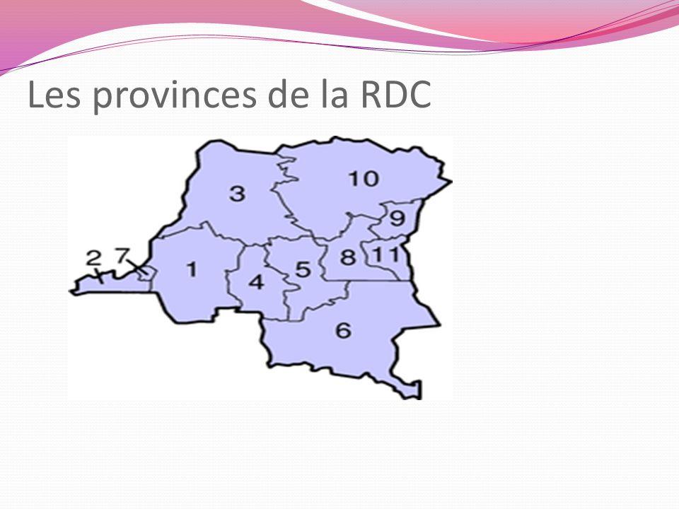 Les provinces de la RDC