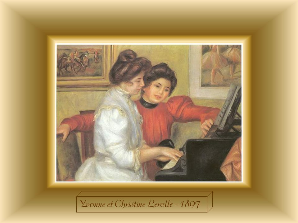 Le thème de la leçon de piano revient fréquemment dans lœuvre de Renoir. Cet exercice lui permet de se rattacher à une tradition solide dans lhistoire