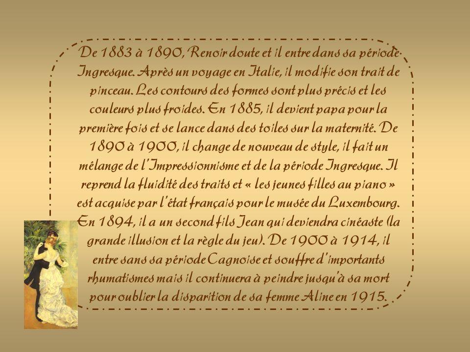 Auguste Renoir est lun des plus célèbres peintres français.