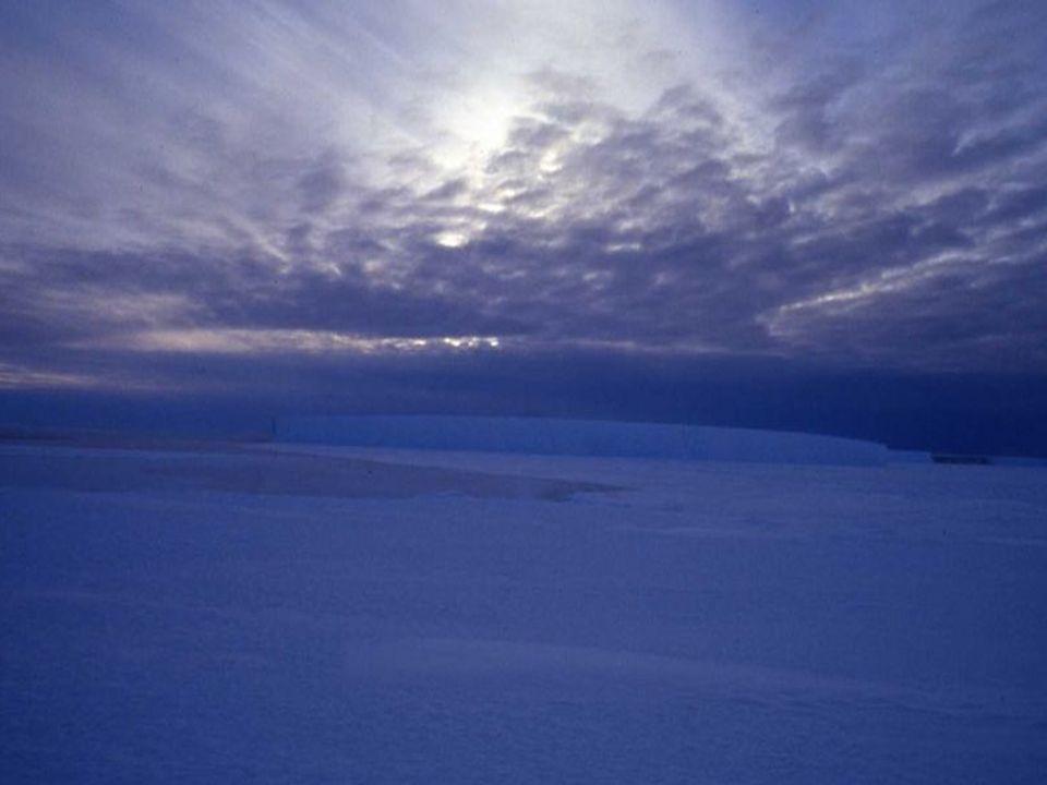 En plein été (janvier), dans l'Antarctique il fait jour presque 24 hrs sur 24, tandis qu'en hiver, les jours restent dans une pénombre prolongée