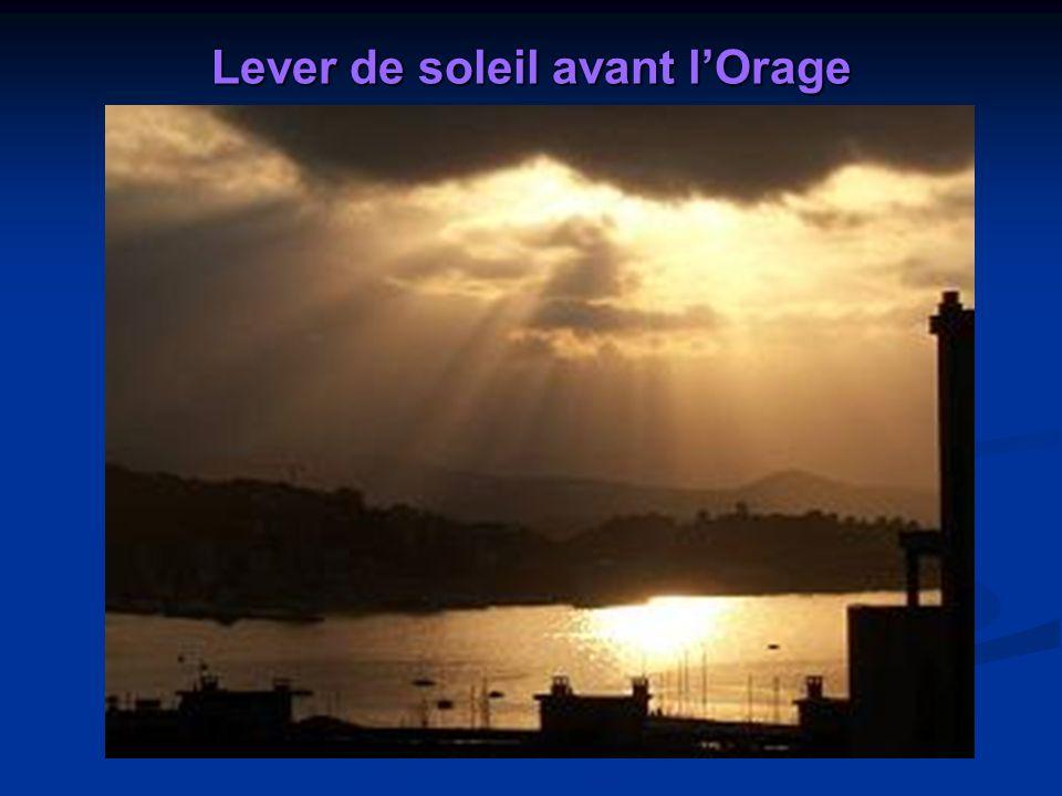 Lever de soleil sur Ajaccio