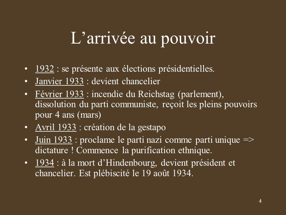 Larrivée au pouvoir 1932 : se présente aux élections présidentielles.