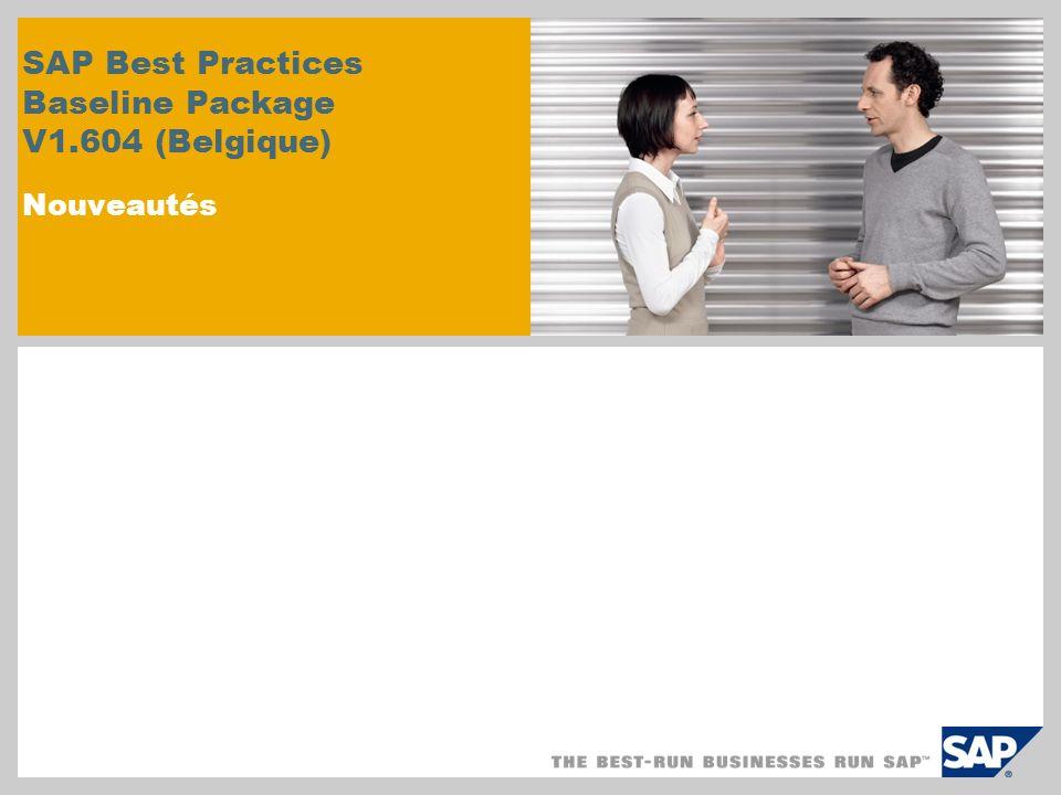 Nouvelles modifications de scenario et de contenu: Nouvelle version SAP Best Practices pour SRM Le scénario dapprovisionnement Shift ou self service est inclu dans la nouvelle version de SAP Best Practices version pour Supplier Relationship Management (SRM).