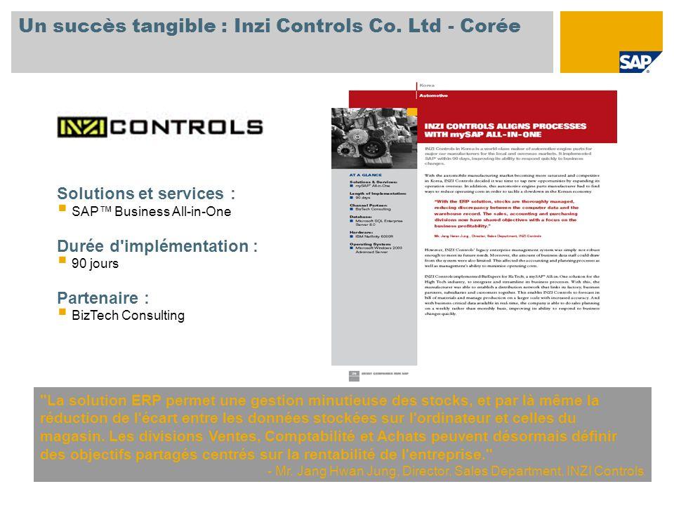 Un succès tangible : Inzi Controls Co.