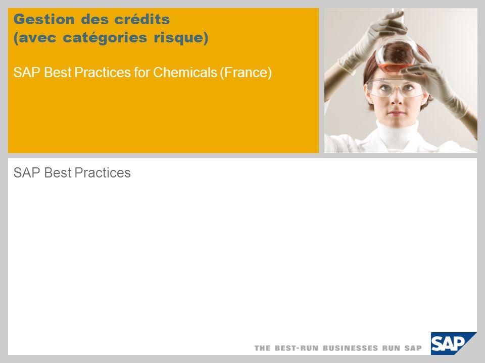 Gestion des crédits (avec catégories risque) SAP Best Practices for Chemicals (France) SAP Best Practices