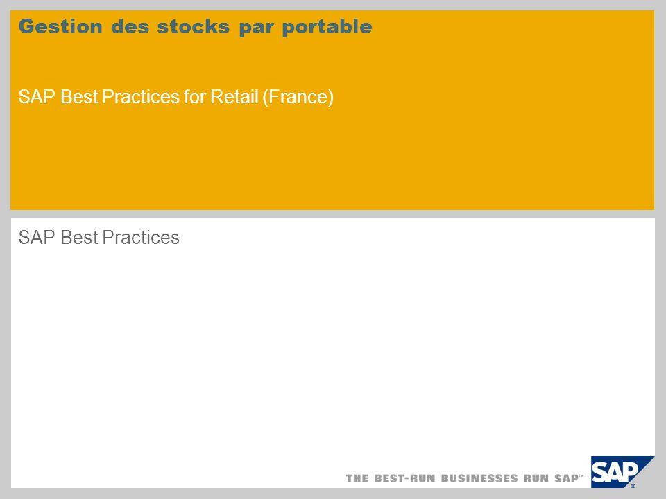 Gestion des stocks par portable SAP Best Practices for Retail (France) SAP Best Practices