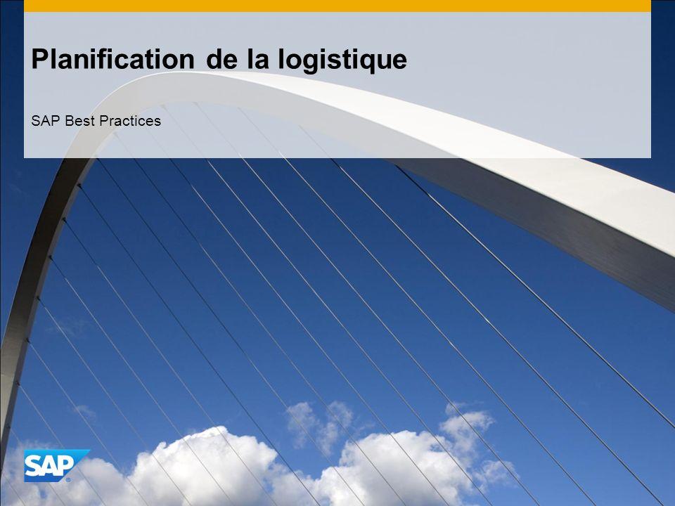 Planification de la logistique SAP Best Practices