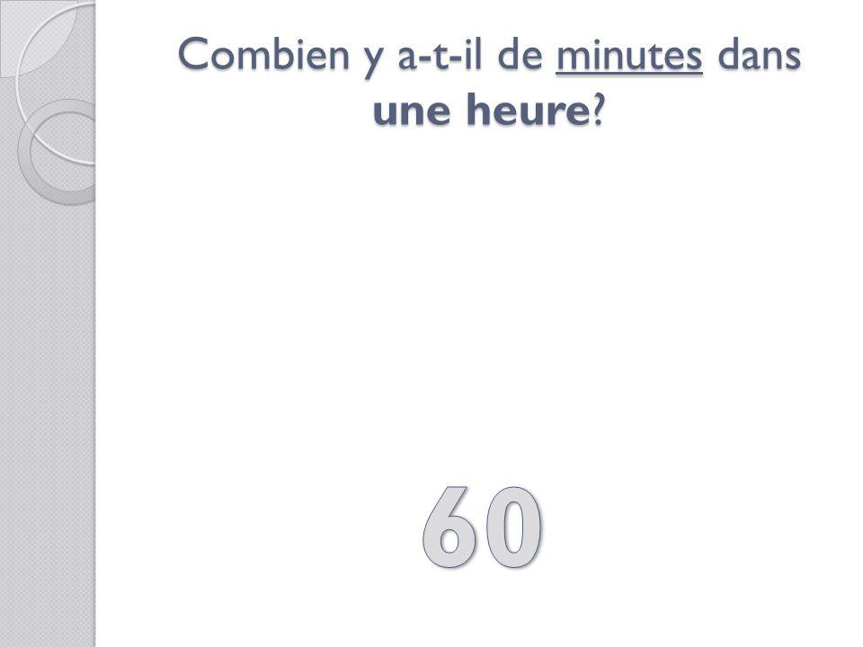 1 minute, cest la même chose que…?
