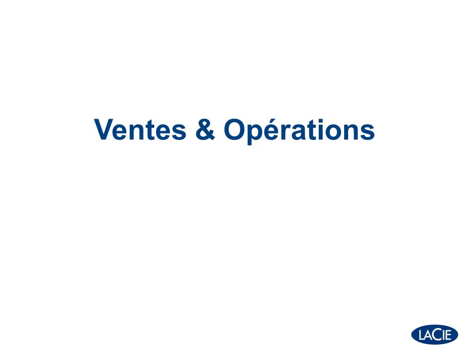 Ventes & Opérations