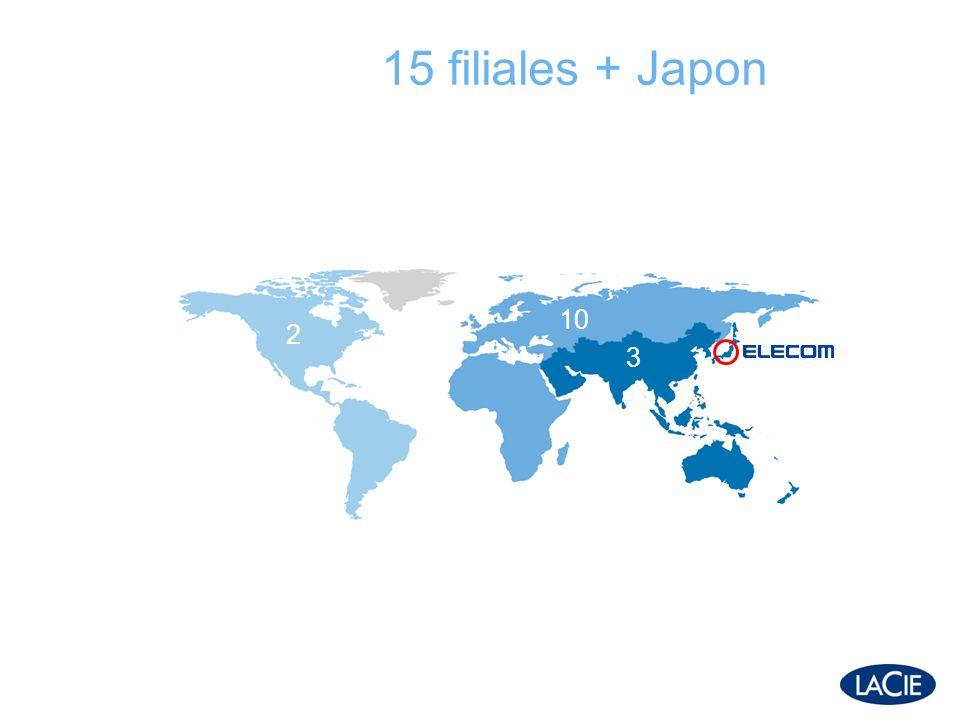 15 filiales + Japon 2 10 3