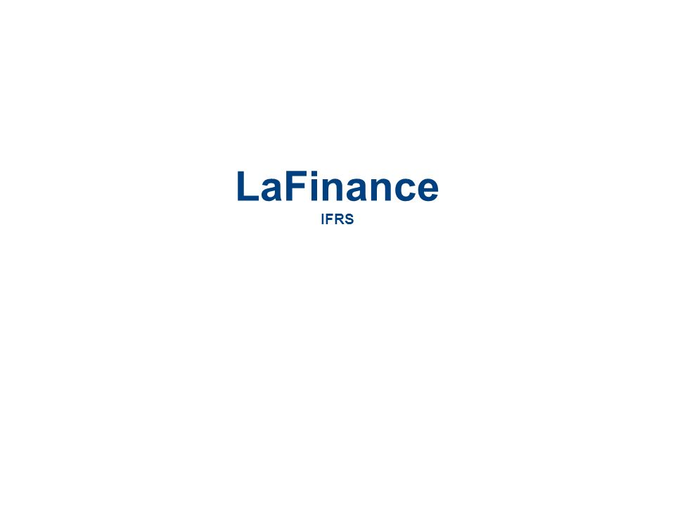 LaCie Hard Drive EMEA Business Update 2006/03 - Confidential LaFinance IFRS