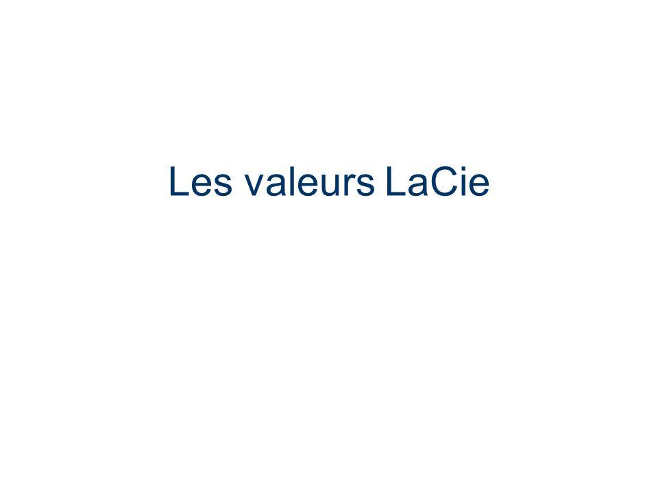 LaCie Hard Drive EMEA Business Update 2006/03 - Confidential Les valeurs LaCie