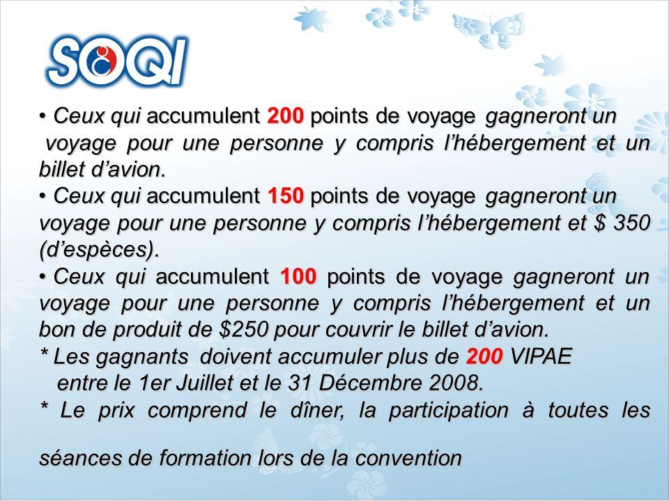 Ceux qui accumulent 200 points de voyage gagneront un Ceux qui accumulent 200 points de voyage gagneront un voyage pour une personne y compris lhéberg