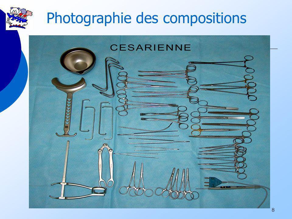 8 Photographie des compositions