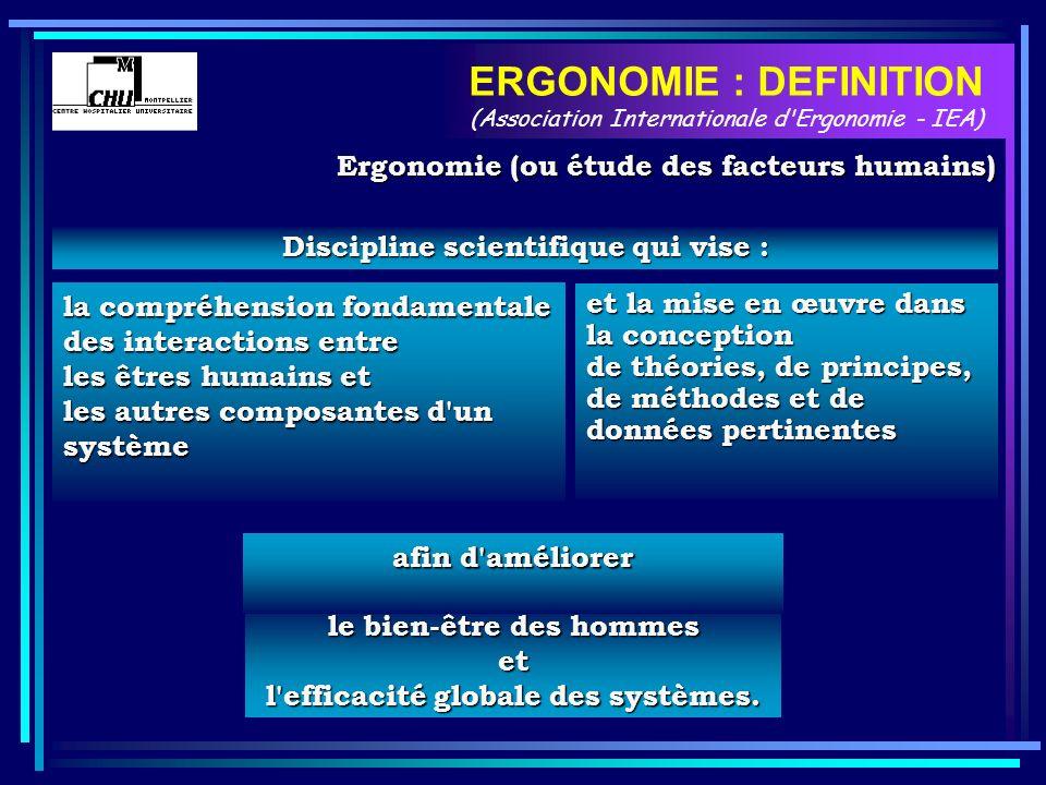 Discipline scientifique qui vise : la compréhension fondamentale des interactions entre les êtres humains et les autres composantes d'un système et la