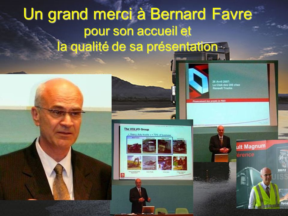 Un grand merci à Bernard Favre pour son accueil et la qualité de sa présentation