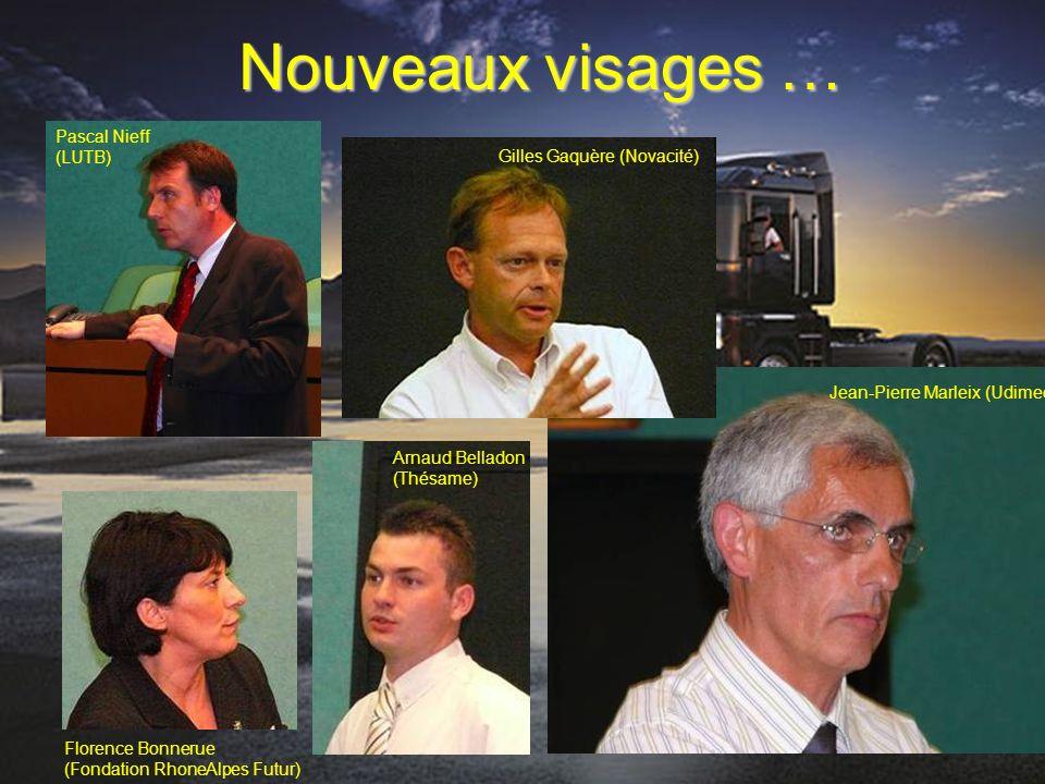 Nouveaux visages … Pascal Nieff (LUTB) Gilles Gaquère (Novacité) Arnaud Belladon (Thésame) Jean-Pierre Marleix (Udimec) Florence Bonnerue (Fondation R