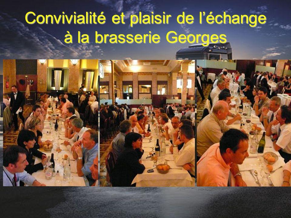 Convivialité et plaisir de léchange à la brasserie Georges
