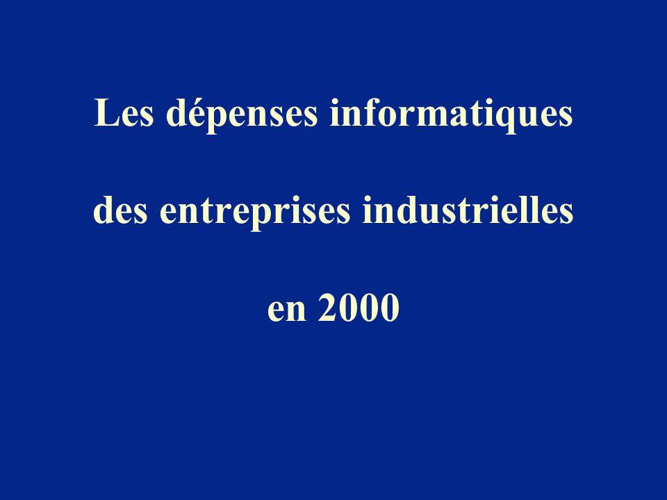 Les dépenses informatiques des entreprises industrielles en 2000