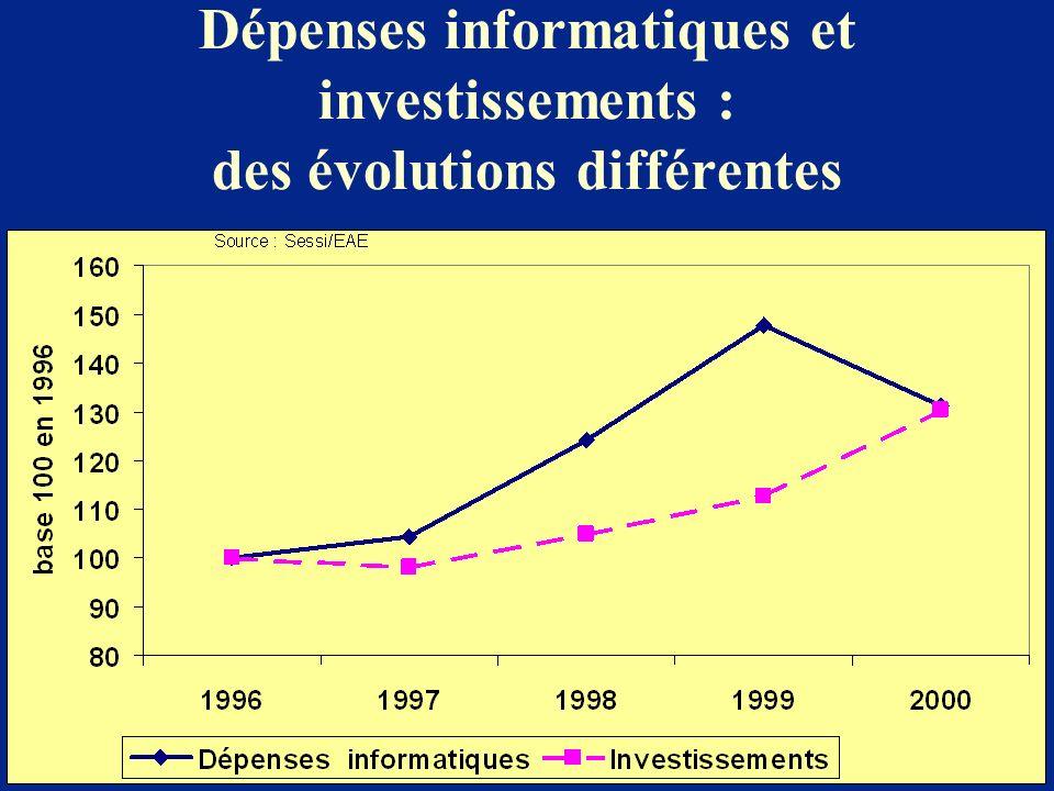 Dépenses informatiques et investissements : des évolutions différentes