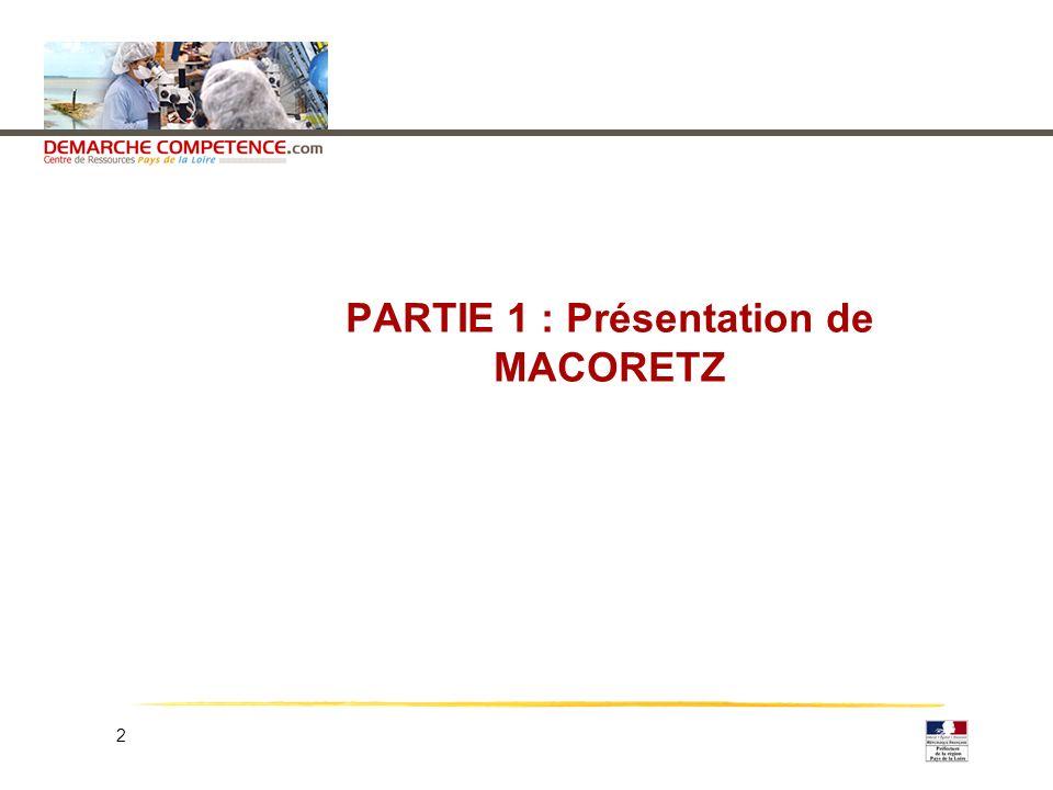 2 PARTIE 1 : Présentation de MACORETZ