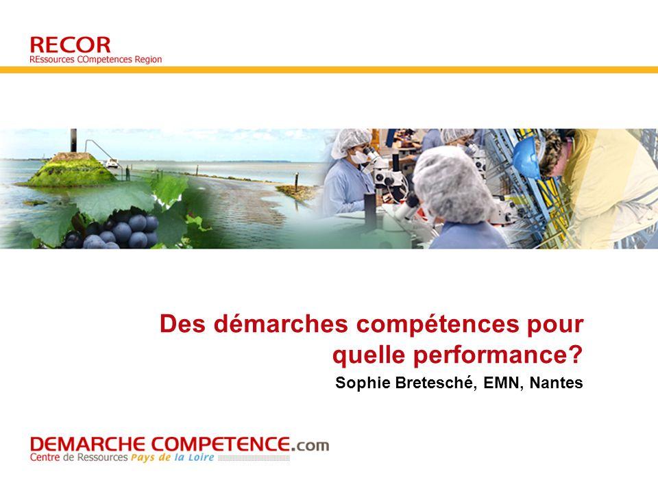 Des démarches compétences pour quelle performance? Sophie Bretesché, EMN, Nantes