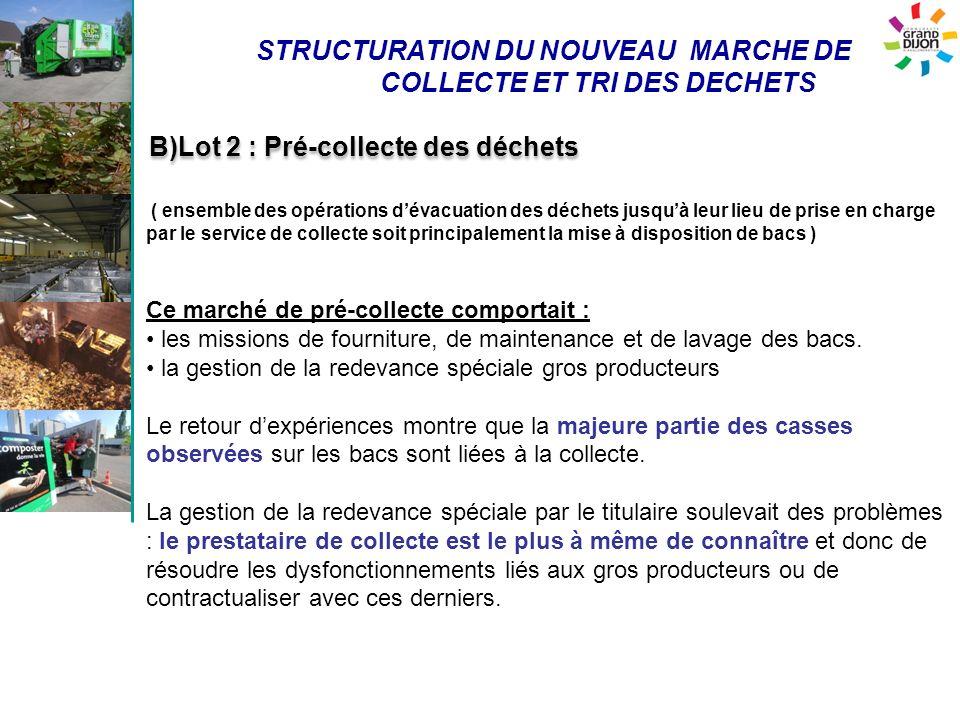STRUCTURATION DU NOUVEAU MARCHE DE COLLECTE ET TRI DES DECHETS ( ensemble des opérations dévacuation des déchets jusquà leur lieu de prise en charge p