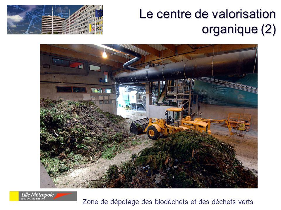 Le centre de valorisation organique (2) Zone de dépotage des biodéchets et des déchets verts