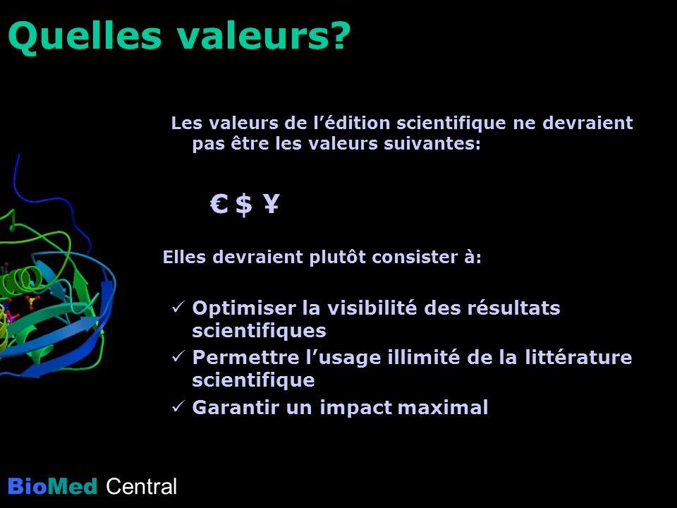 BioMed Central Quelles valeurs.