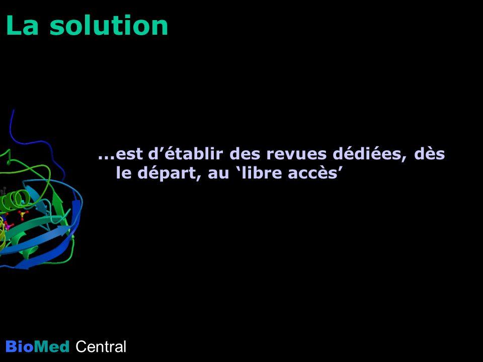La solution...est détablir des revues dédiées, dès le départ, au libre accès