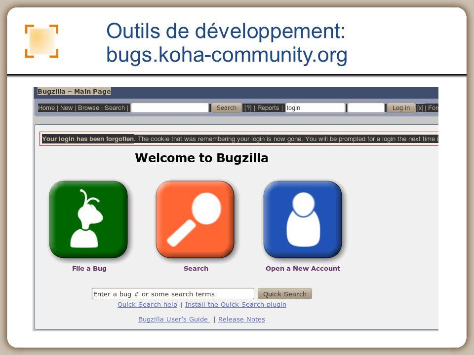 Outils de développement: bugs.koha-community.org