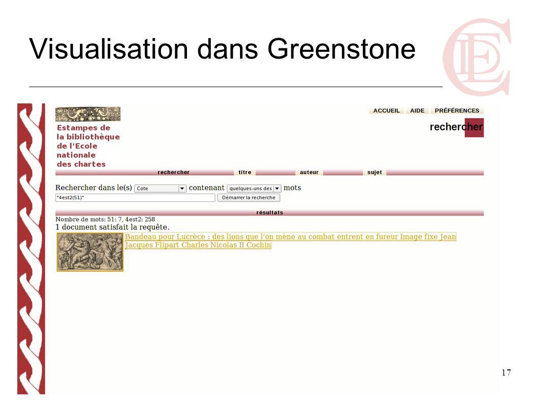 17 Visualisation dans Greenstone