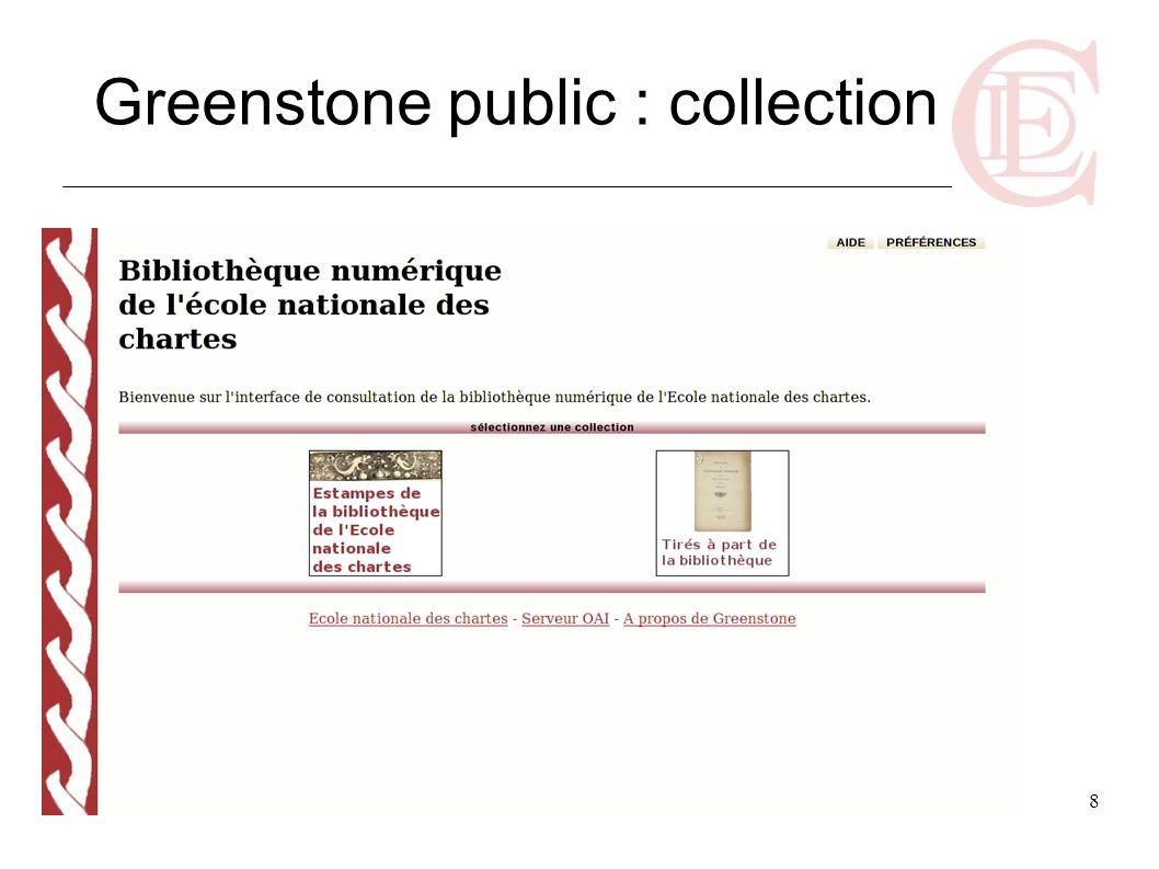 8 Greenstone public : collection