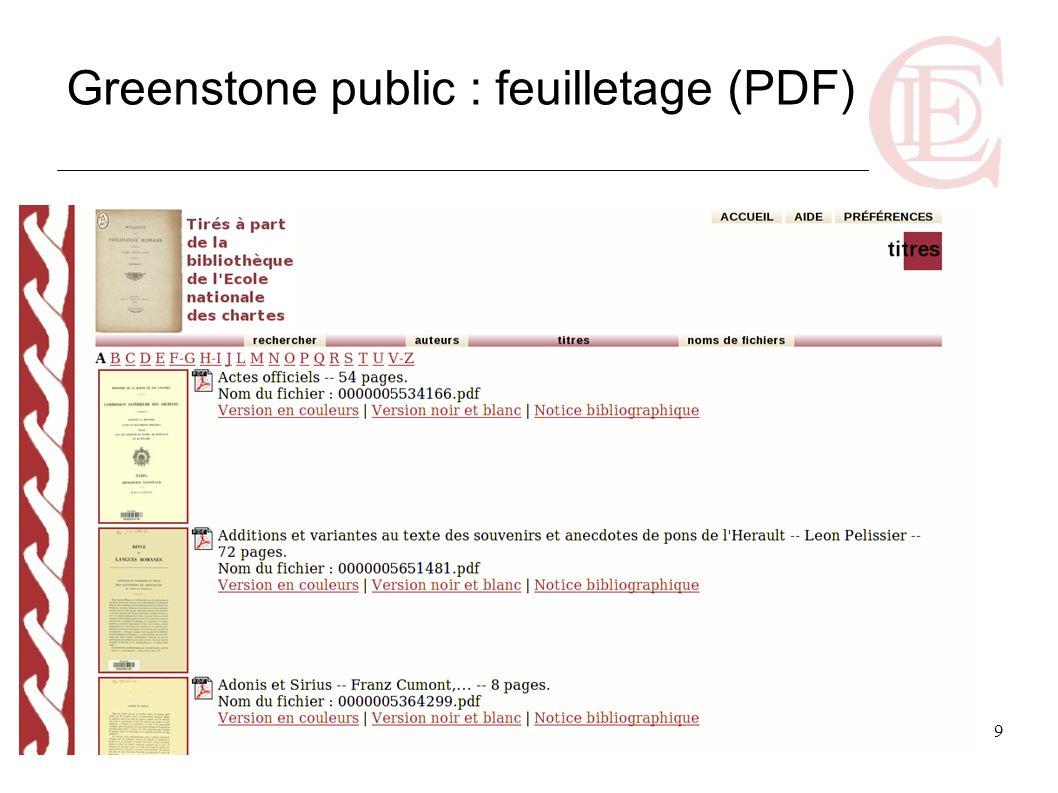 9 Greenstone public : feuilletage (PDF)