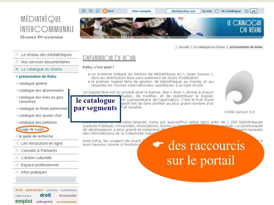 un accès permanent (notice détaillée) aux principaux services du portail