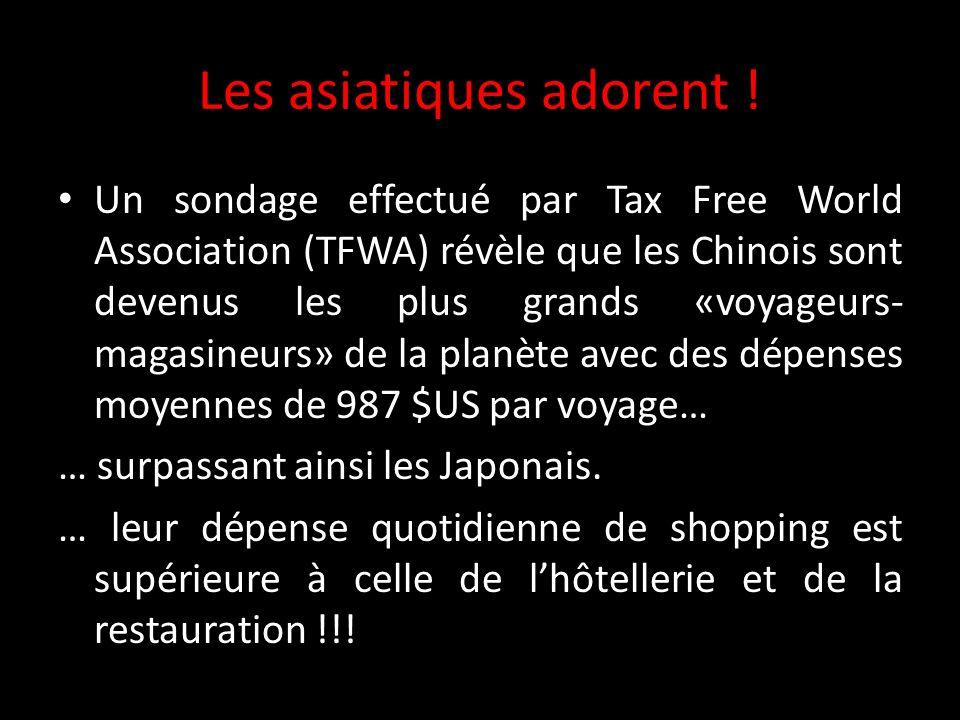 Les asiatiques adorent ! Un sondage effectué par Tax Free World Association (TFWA) révèle que les Chinois sont devenus les plus grands «voyageurs- mag