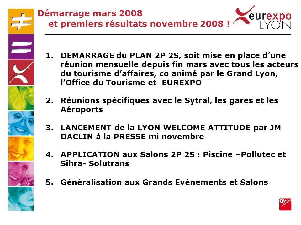 1.DEMARRAGE du PLAN 2P 2S, soit mise en place dune réunion mensuelle depuis fin mars avec tous les acteurs du tourisme daffaires, co animé par le Gran