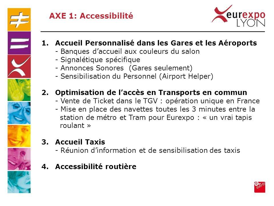 1.Accueil Personnalisé dans les Gares et les Aéroports - Banques daccueil aux couleurs du salon - Signalétique spécifique - Annonces Sonores (Gares se