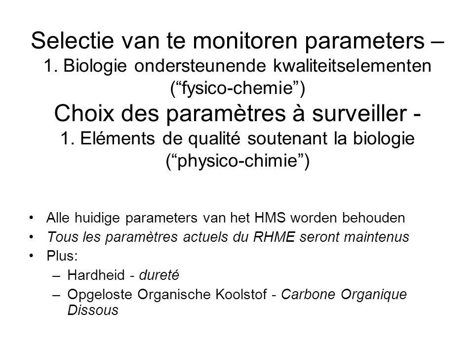 Selectie van te monitoren parameters – 1.