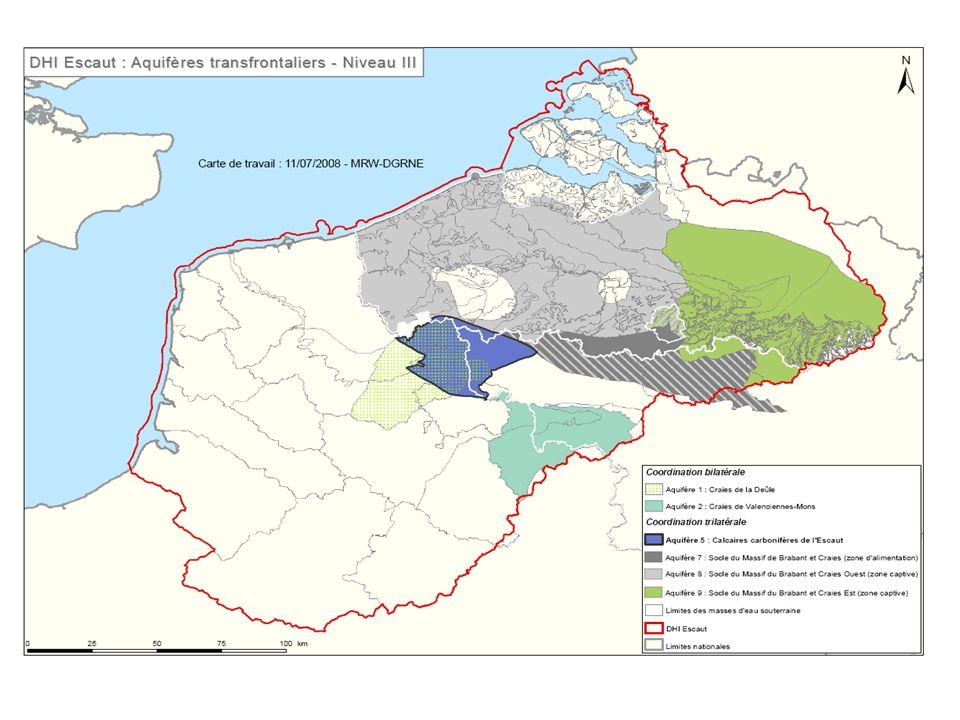 synoptique à l échelle du district des débit des eaux de surface disponible en période détiage 2005