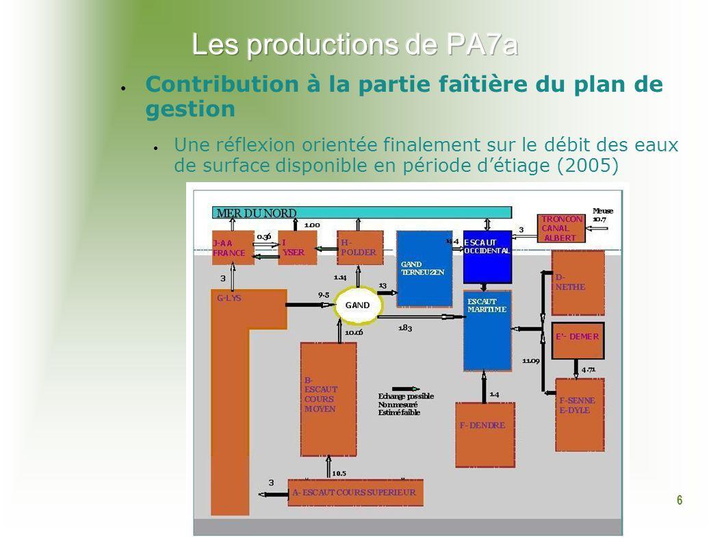 6 Contribution à la partie faîtière du plan de gestion Une réflexion orientée finalement sur le débit des eaux de surface disponible en période détiage (2005)