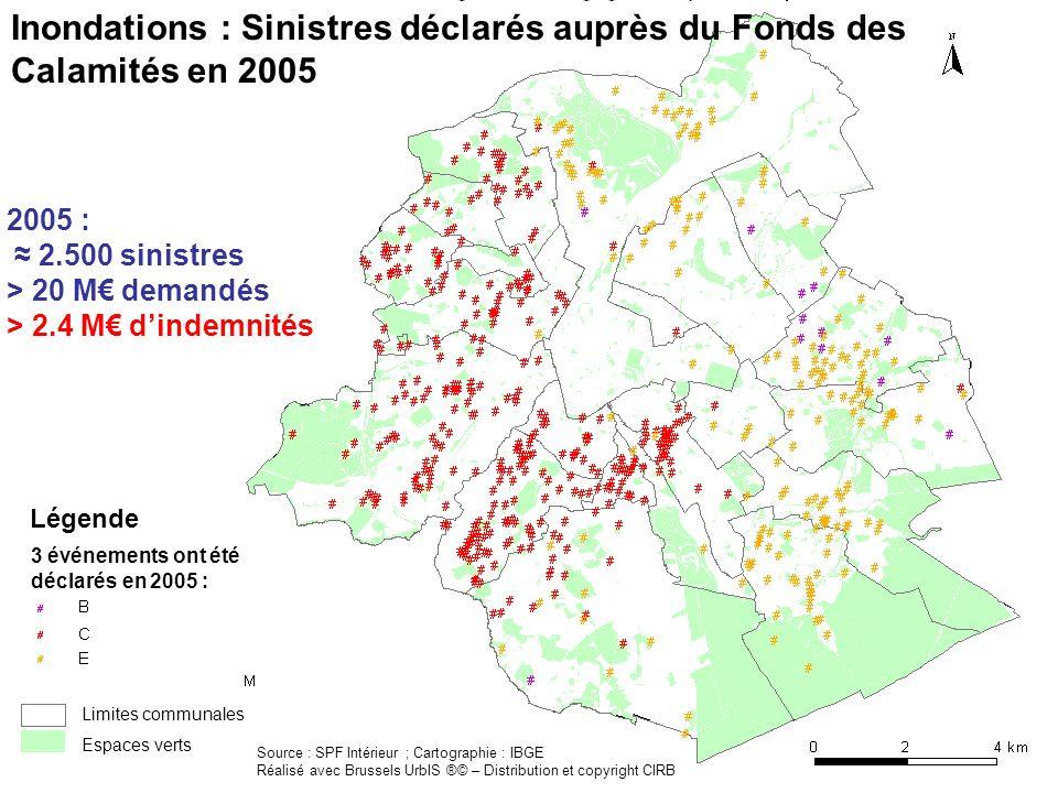 Partie 3 : Causes des inondations DNEF – Sous-division « Eau » | Février 2007 2006 Imperméabilisation des sols DNEF – Sous-division « Eau » | Février 2007