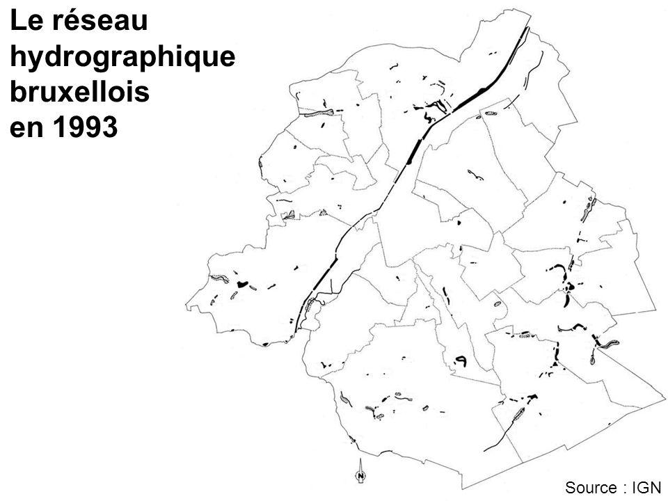 Programme Maillage bleu (1999 - ) Récupérer les eaux claires « parasites » du réseau dégouts pour les renvoyer dans les eaux de surface Rendre au réseau hydrographique son rôle dexutoire local des eaux de pluie Promouvoir le rôle social et culturel des eaux de surface dans la Région
