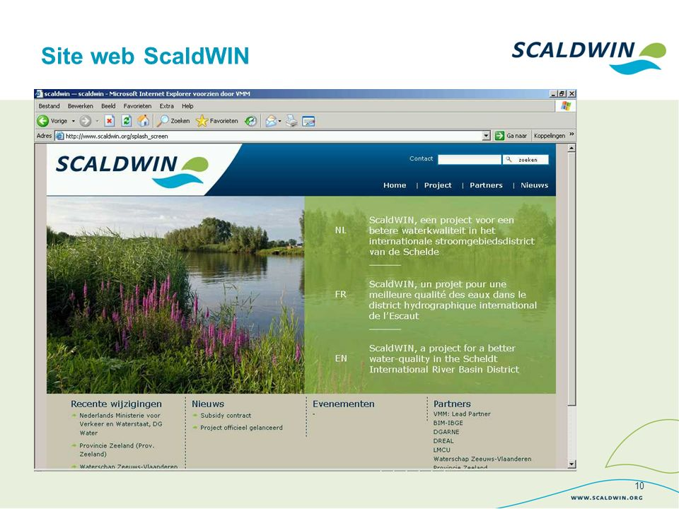 Site web ScaldWIN 10