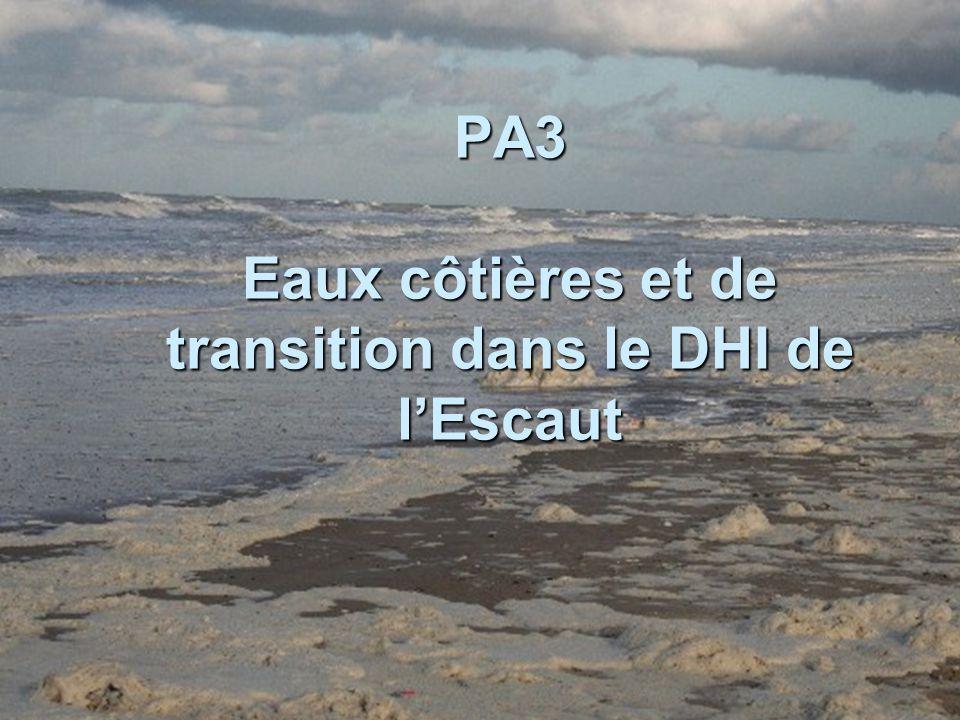 PA3 Eaux côtières et de transition dans le DHI de lEscaut