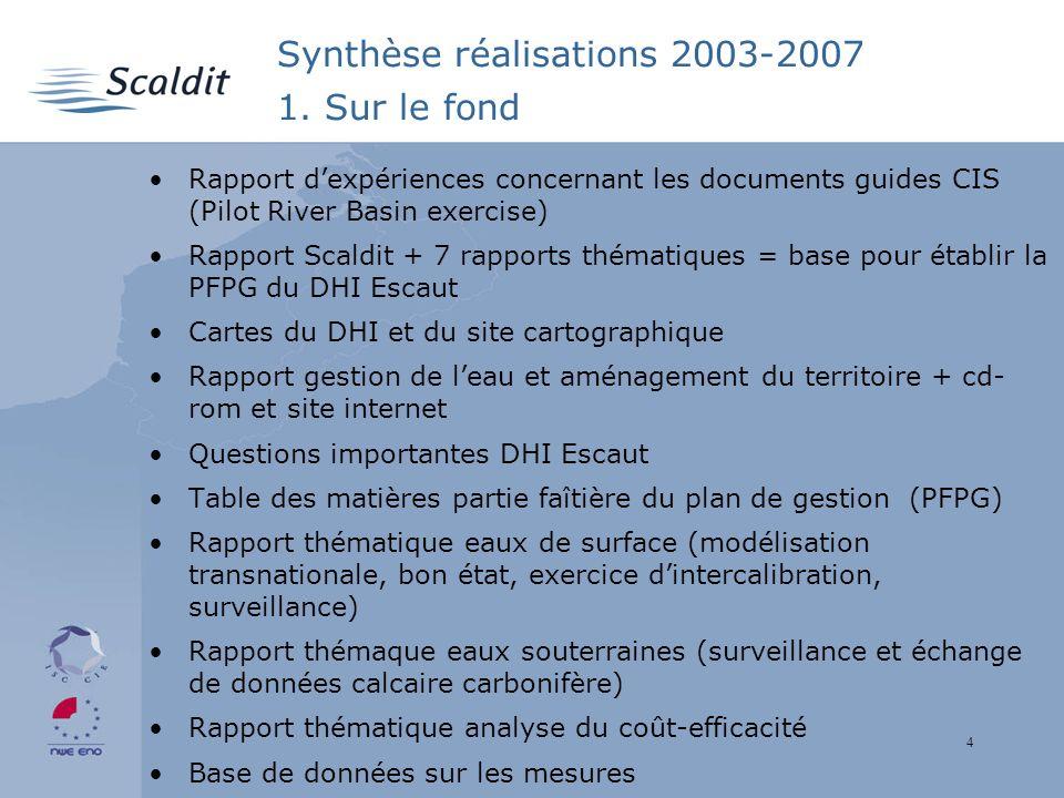4 Synthèse réalisations 2003-2007 1.