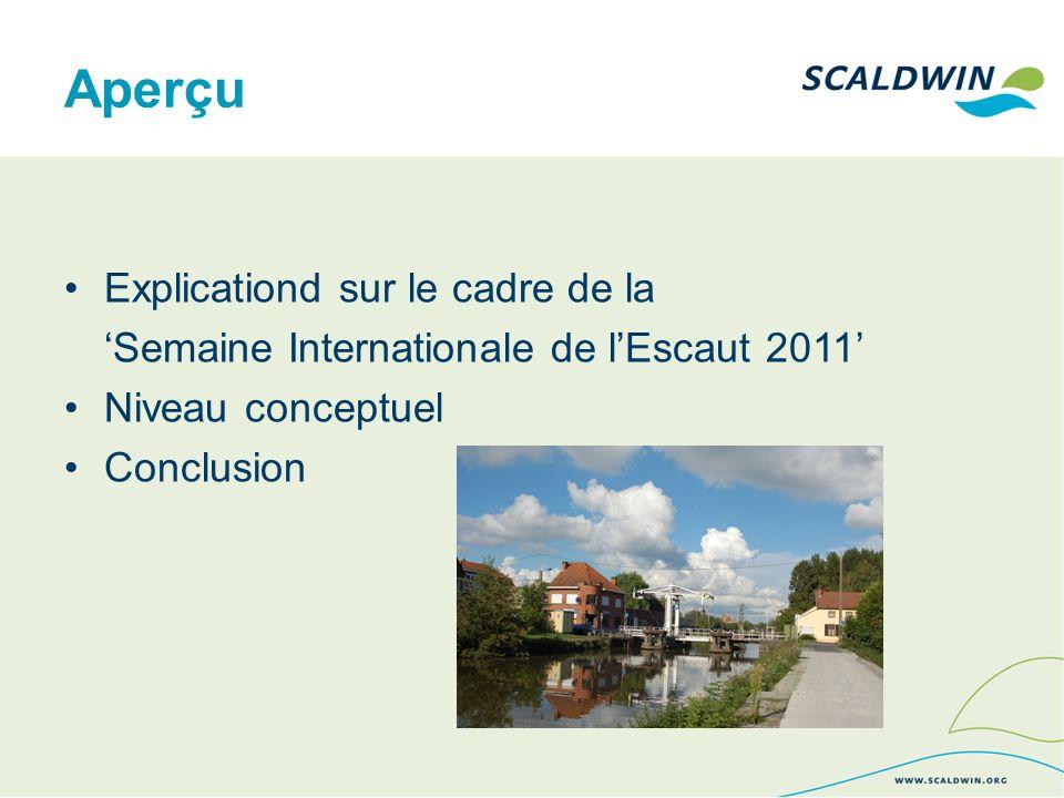 Aperçu Explicationd sur le cadre de la Semaine Internationale de lEscaut 2011 Niveau conceptuel Conclusion