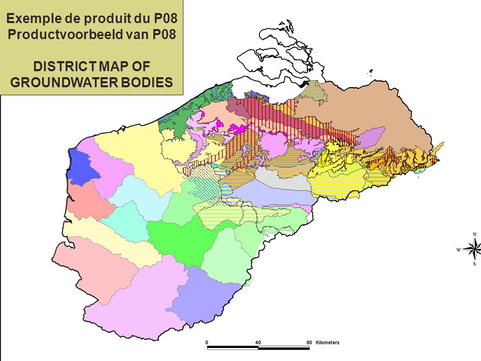 Exemple de produit du P08 Productvoorbeeld van P08 DISTRICT MAP OF GROUNDWATER BODIES