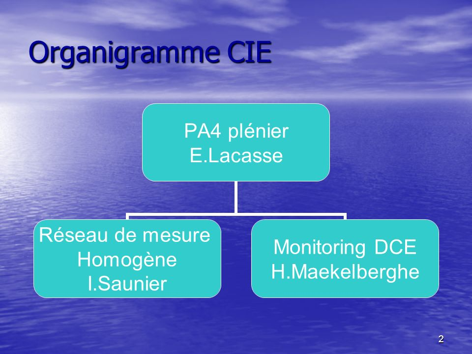 2 Organigramme CIE